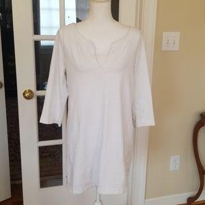 J.Crew white cotton tunic top M